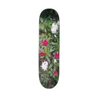 red and white flower skate decks