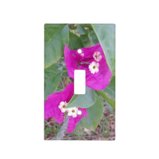 """""""RED AND WHITE FLOWERS LIGHT SWITCH COVER"""