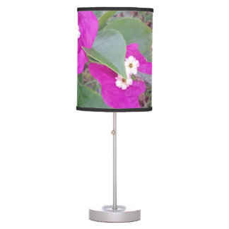 RED AND WHITE FLOWERS TABLE LAMP