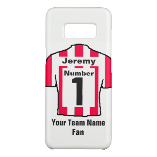 Red and white Football Shirt Choose name and team Case-Mate Samsung Galaxy S8 Case