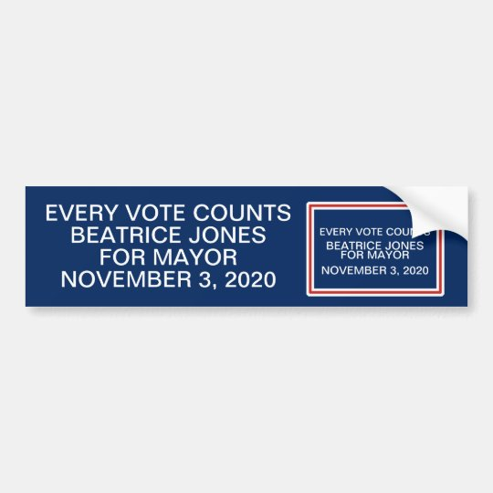Red and White Frame Patriotic Colours Campaign Bumper Sticker