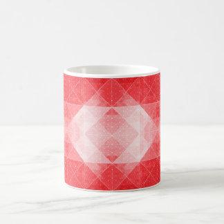 Red and White Geometric Pattern Mug