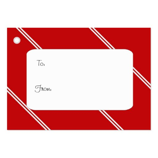 Red and white gift tag business card