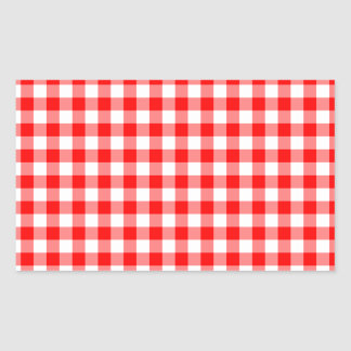 Red and White Gingham Checks