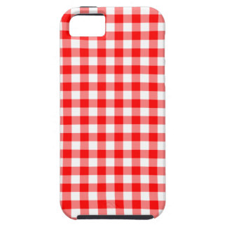 Red and White Gingham Checks iPhone 5 Cases