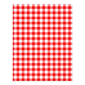 Red and White Gingham Checks Letterhead