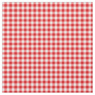 Red and white gingham fabric
