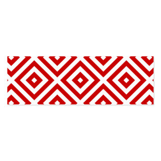 Red and White Granny Squares Pack Of Skinny Business Cards