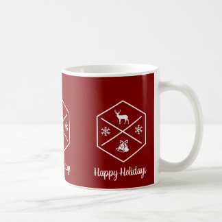 Red And White Happy Holidays Coffee Mug