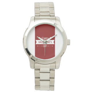 Red And White Happy Valentine's Day Watch