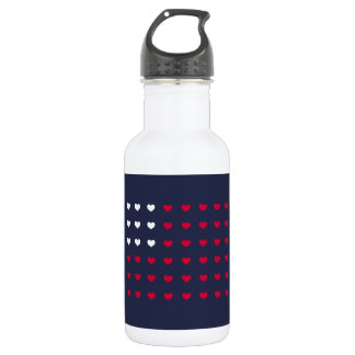 Red and White hearts Inspired by American Flag 532 Ml Water Bottle