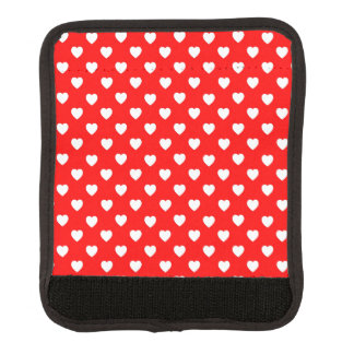 Red And White Hearts Pattern Luggage Handle Wrap