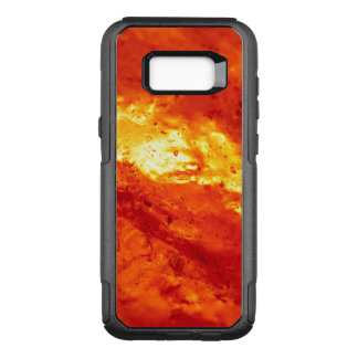 Red and White Hot Lava OtterBox Commuter Samsung Galaxy S8+ Case
