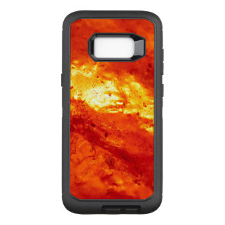 Red and White Hot Lava OtterBox Defender Samsung Galaxy S8+ Case