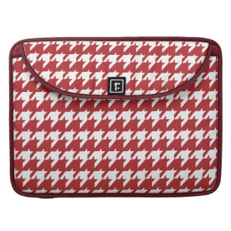 Red and white houndstooth sleeves for MacBook pro