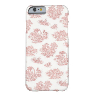 Red and white Jouy Barely There iPhone 6 Case