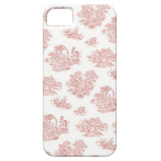 Red and white Jouy print iPhone 5 Cover