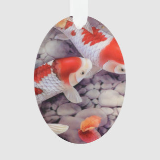 Red and White Koi Fish Pond Ornament