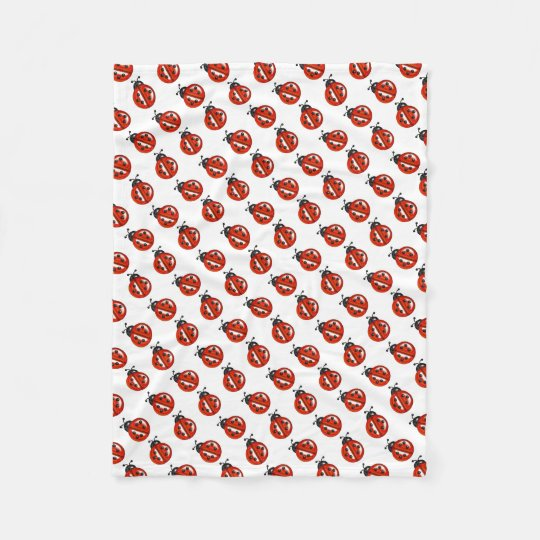 Red And White Ladybugs Throw Blanket