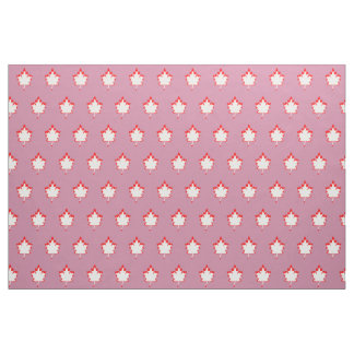 """Red and white leaf Pima Cotton (54"""" width) Fabric"""
