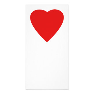 Red and White Love Heart Design. Customized Photo Card