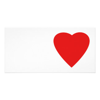 Red and White Love Heart Design. Picture Card
