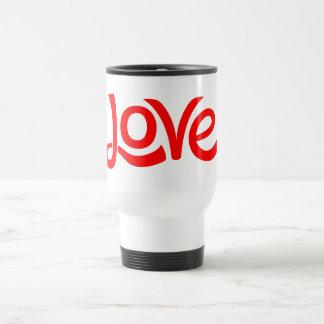 Red And White Love Hearts Travel Mug