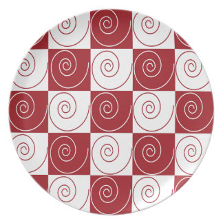 Red and White Mouse Tails Party Plates