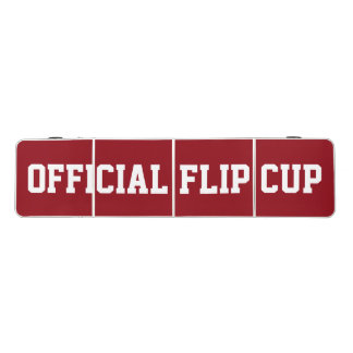 Red and White Official Flip Cup Table Pong Table