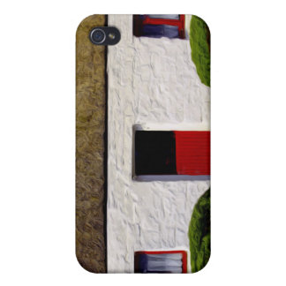 Red and White old irish Cottage iPhone 4/4S Covers