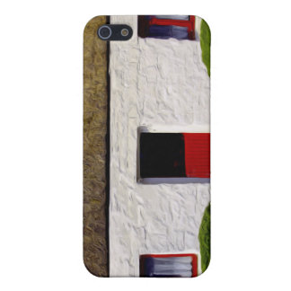 Red and White old irish Cottage iPhone 5 Cases