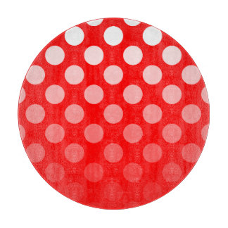 Red and White Ombre Polka Dots Boards
