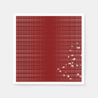 Red And White Pattern Paper Napkins