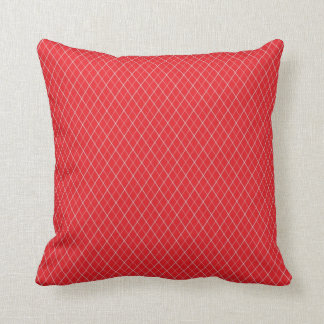 Red and White Pattern Throw Pillow