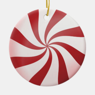Red and White Peppermint Candy Ornament