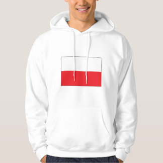 Red and White Polish Flag Hoodie