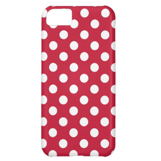 Red and White Polka Dot Case For iPhone 5C