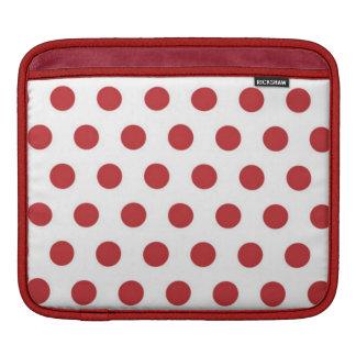 Red And White Polka Dot  ipad Sleeve