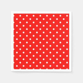 Red and white polka dot modern glamour disposable napkin
