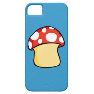 Red and White Polka Dot Mushroom iPhone 5 Cases