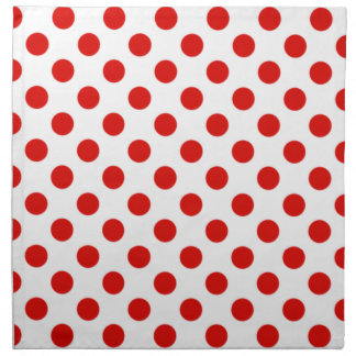 Red and White Polka Dot Napkins