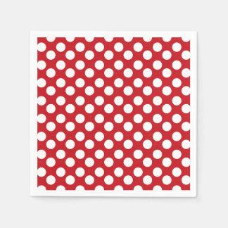 Red and White Polka Dot Paper Napkin