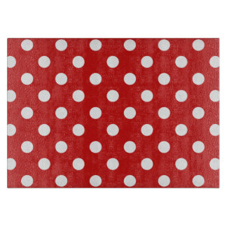 Red and White Polka Dot Pattern Cutting Board