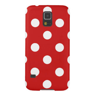 Red and White Polka Dot Pattern Galaxy S5 Covers