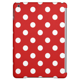 Red and White Polka Dot Pattern iPad Air Cases