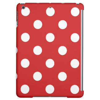 Red and White Polka Dot Pattern iPad Air Cover