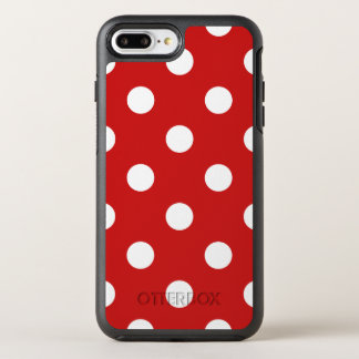 Red and White Polka Dot Pattern OtterBox Symmetry iPhone 8 Plus/7 Plus Case