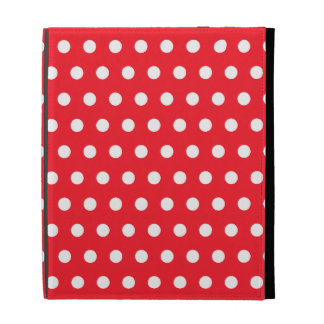 Red and White Polka Dot Pattern. Spotty. iPad Case