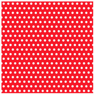 Red and White Polka Dot Pattern. Spotty. Photo Sculptures