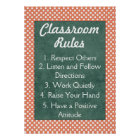 Red and White Polka Dots Classroom Rules Poster